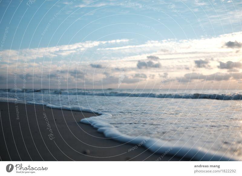 #319 / Schaumkrone Ferien & Urlaub & Reisen Sommer Wasser Meer Erholung Freude Ferne Strand Umwelt Bewegung Küste Glück Freiheit Tourismus Horizont