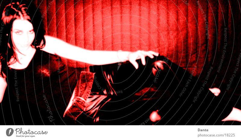 Redgirl Frau rot feminin Stil