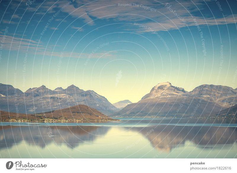 halleluja! Himmel Natur schön Wasser Landschaft Ferne Berge u. Gebirge Religion & Glaube Gefühle Herbst Glück außergewöhnlich Stimmung wild Lebensfreude