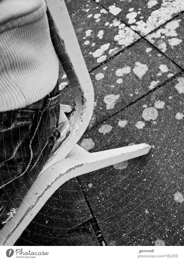 Stuhlgang Mann Freude Erwachsene Beine lustig Zufriedenheit Rücken maskulin ästhetisch Stuhl Gesäß fallen Kot Stress Duft bizarr