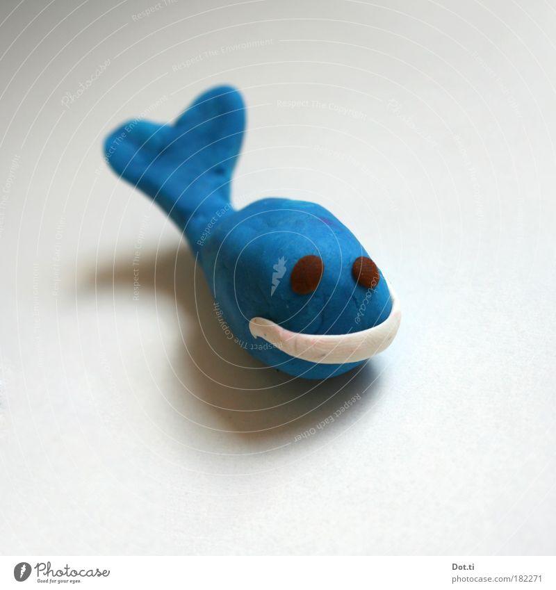 whale, watching blau Tier Spielen Freizeit & Hobby Lächeln Mund niedlich Freundlichkeit Spielzeug Figur Basteln Blick selbstgemacht Kinderspiel Meerestier