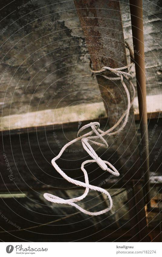 Drahtseilakt Traurigkeit Kraft Angst Beton Zukunft Elektrizität Kraft Technik & Technologie Industriefotografie verfallen Zusammenhalt Gewalt Stahl Technikfotografie Draht gefangen