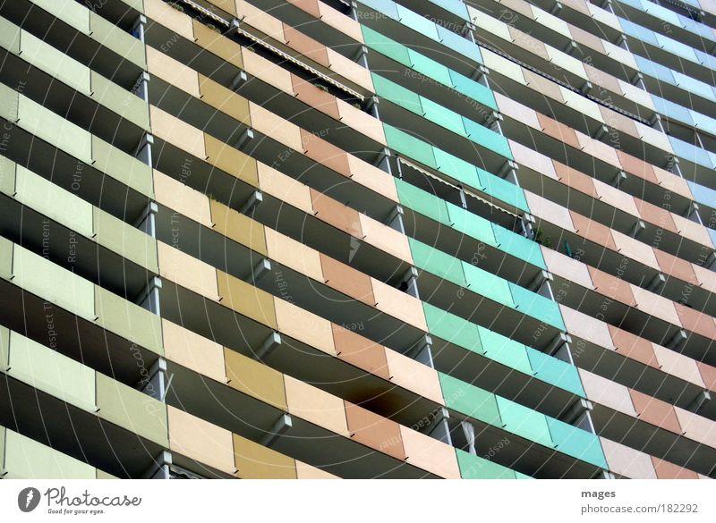 348 WE Stadt Haus Gebäude Architektur Design Beton groß Hochhaus hoch Fassade modern Häusliches Leben Balkon Bauwerk Wahrzeichen