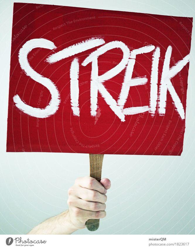 STREIK Hand rot Kunst Angst Schilder & Markierungen Wandel & Veränderung Völker festhalten Wunsch anstrengen Aggression Willensstärke gegen Mitarbeiter