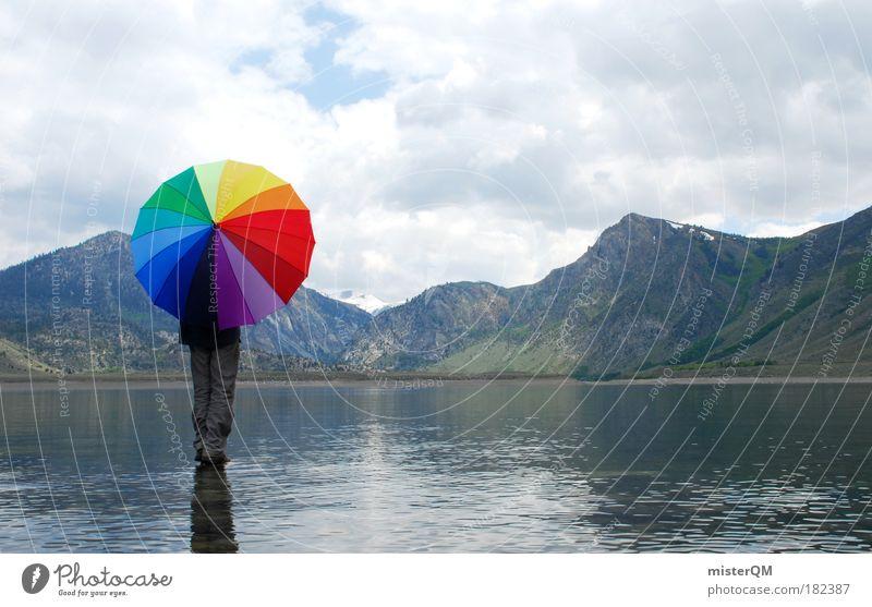 Wasserläufer. Umwelt Schutz Wolken Einsamkeit Herbst Freiheit Landschaft Berge u. Gebirge See Regen Kunst Wetter elegant Design ästhetisch verrückt