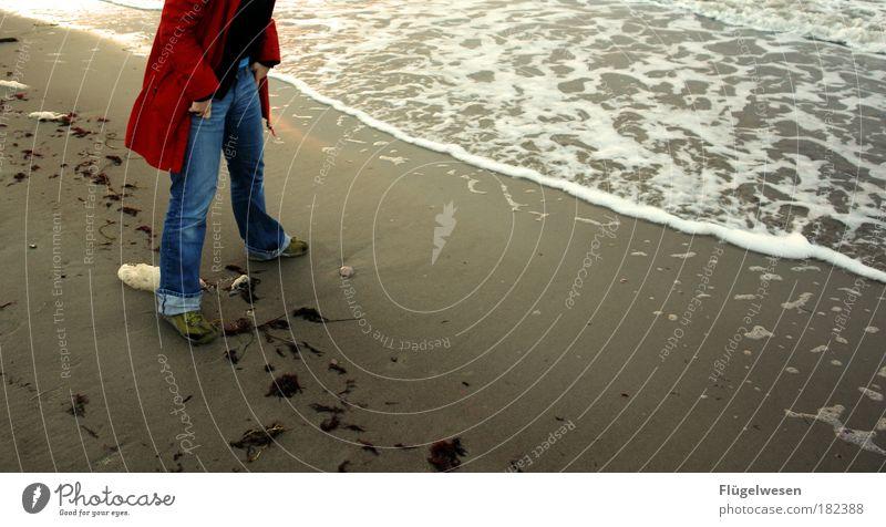 Wann kommt die Flut, Natur Ferien & Urlaub & Reisen Wasser Erholung Einsamkeit Strand Umwelt Traurigkeit Küste Lifestyle Freizeit & Hobby Tourismus Wellen wandern warten Ausflug