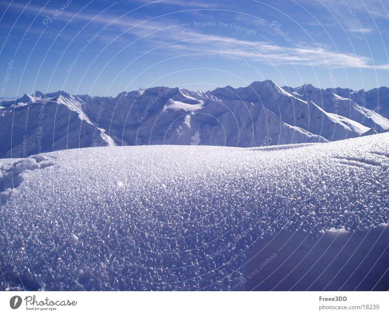 In den Alpen Winter Schnee Berge u. Gebirge Alpen Gipfel Österreich Bergkette Hochgebirge Sölden