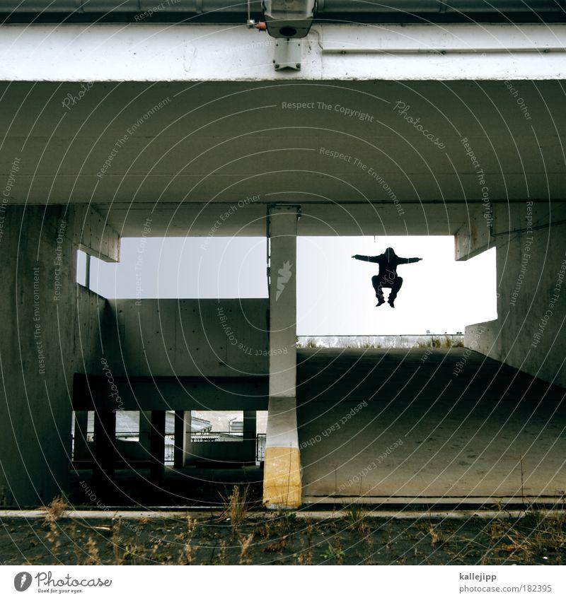 let there be music Mann Erwachsene Leben Wand Freiheit springen Mauer Freizeit & Hobby Fassade Design Energie Verkehr ästhetisch Erfolg Lifestyle trist