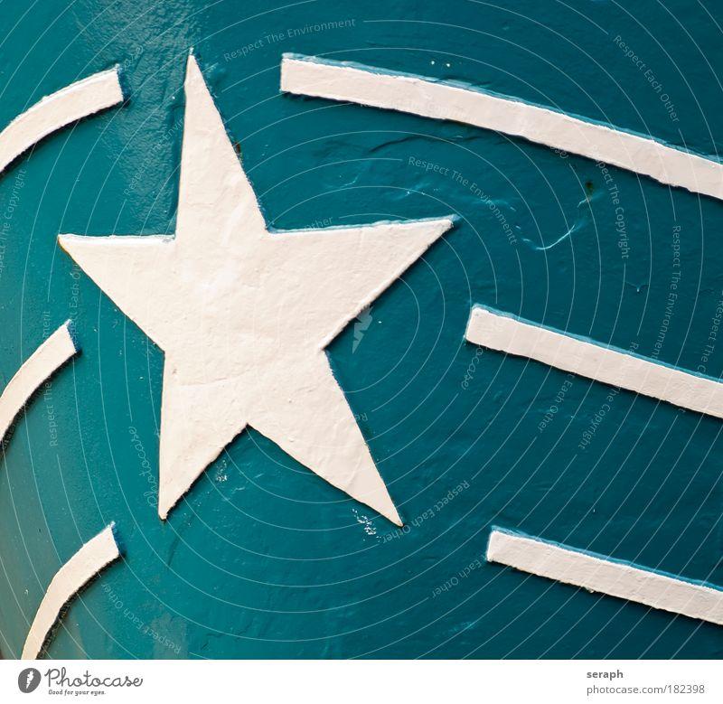 Star Ship Weihnachten & Advent grün blau Wasserfahrzeug Metall Stern Streifen Zeichen Eisen Piktogramm Zacken Anstrich Komet Schweißnaht Symbolismus