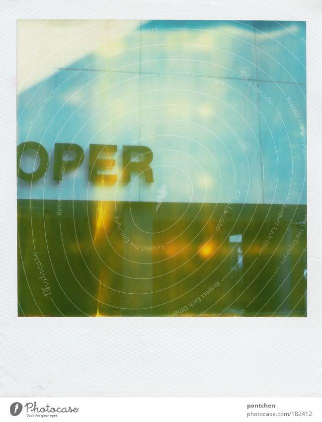 Oper blau Stil Gebäude Musik Freizeit & Hobby Design ästhetisch Lifestyle Kultur außergewöhnlich Bildung Reichtum Anzug Polaroid Konzert Opernhaus