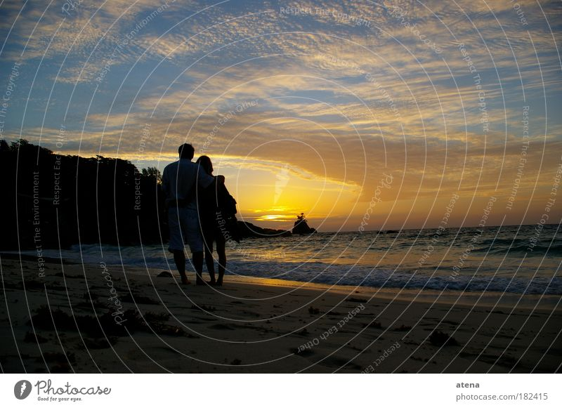 Anse Soleil Natur Wasser Sonne Meer Sommer Strand Ferien & Urlaub & Reisen Liebe Ferne Gefühle Freiheit Glück Paar Sand Küste Ausflug