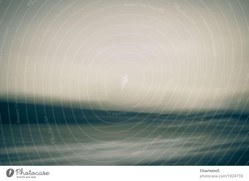 Still Storm Outside Meer Winter Berge u. Gebirge dunkel kalt Traurigkeit Bewegung Schnee fliegen träumen Feld Wellen Tanzen berühren Unendlichkeit Gemälde
