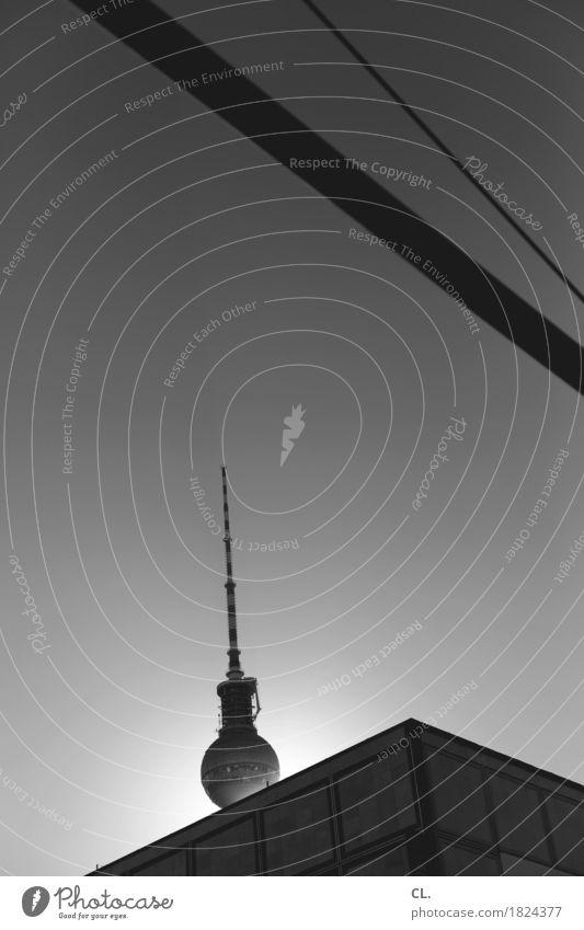 berlin Himmel Wolkenloser Himmel Sonne Sonnenlicht Schönes Wetter Berlin Stadt Hauptstadt Stadtzentrum Hochhaus Bauwerk Gebäude Architektur Sehenswürdigkeit