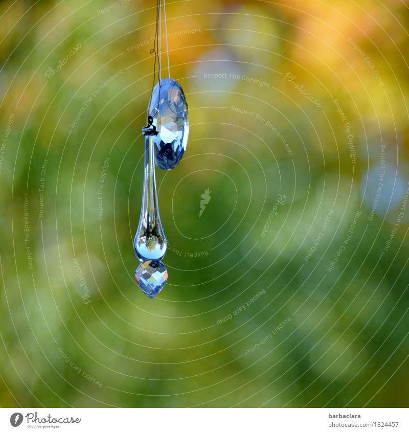Kitsch | Miniaturweltspiegel Häusliches Leben einrichten Dekoration & Verzierung Umwelt Natur Garten Fenster Krimskrams Glas Kristalle glänzend hängen leuchten
