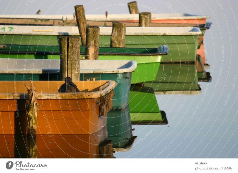 Boote 1 Wasserfahrzeug See Teich Steg Sommer Ente