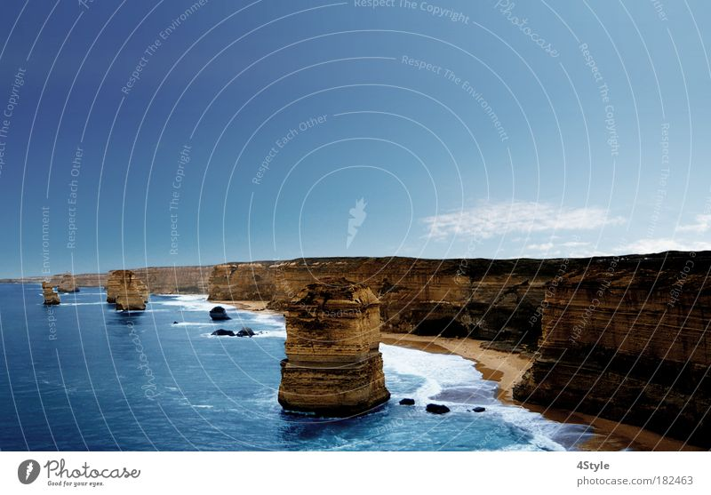 4 Apostel Himmel Natur Wasser Sonne Sommer Strand Meer Erholung Landschaft Küste Wellen Ausflug Ferien & Urlaub & Reisen Bucht Zentralperspektive Sightseeing