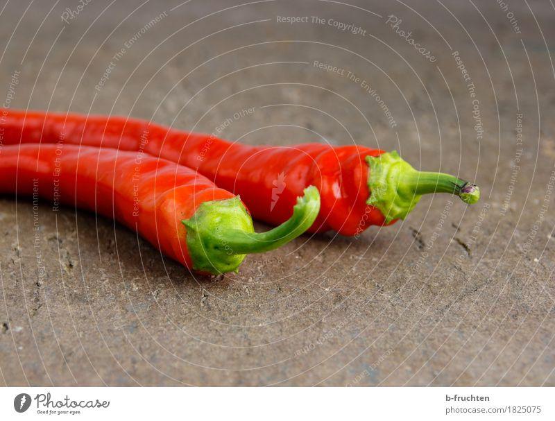Chilischoten rot Kräuter & Gewürze Scharfer Geschmack Gemüse Holzbrett Vegetarische Ernährung Würzig Peperoni