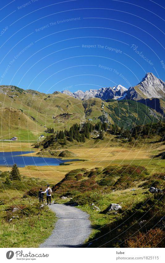Herbststimmung 1 Natur Ferien & Urlaub & Reisen Landschaft Ferne Berge u. Gebirge Umwelt Wege & Pfade Freiheit Tourismus Wetter wandern Ausflug Gipfel