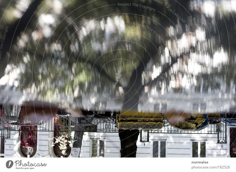 mal schnell digital I Baum Stadt Blatt Haus Straße Leben Herbst träumen Wege & Pfade Park braun Kunst Straßenverkehr Umwelt gold Lifestyle