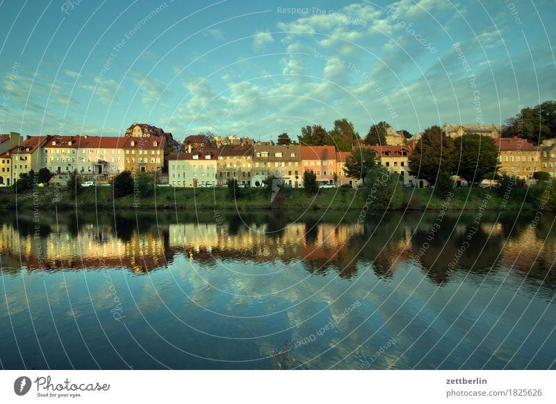 Zgorzelec Architektur Haus Reihe Fassade Fenster Vorderseite görlitz historisch Jugendstil Stadt Kleinstadt Lausitz neiße Fluss Flussufer Wasser
