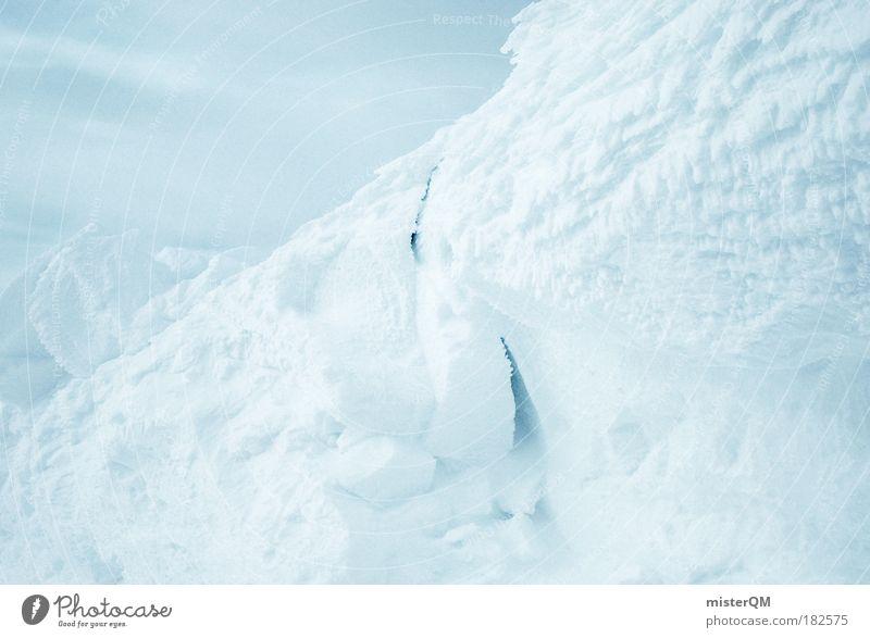 White Hell. Natur weiß Winter ruhig kalt Schnee Berge u. Gebirge Makroaufnahme Eis Muster ästhetisch bedrohlich Frost Detailaufnahme Nahaufnahme Gipfel