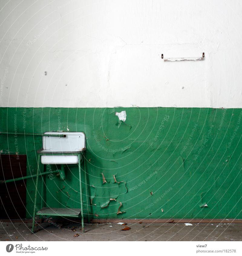 Hoffnungsvoll grün Ferne dunkel Stein Raum Wohnung Design Ordnung Bad Wandel & Veränderung Dekoration & Verzierung rein Häusliches Leben Vergänglichkeit Streifen