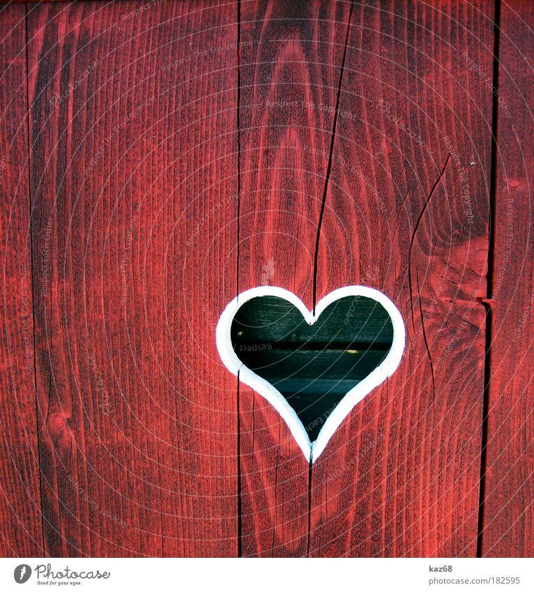 Liebe weiß rot Haus Fenster Holz Tür Herz Geburtstag Jubiläum Freundlichkeit Landwirtschaft Verliebtheit Grundbesitz Bayern hart
