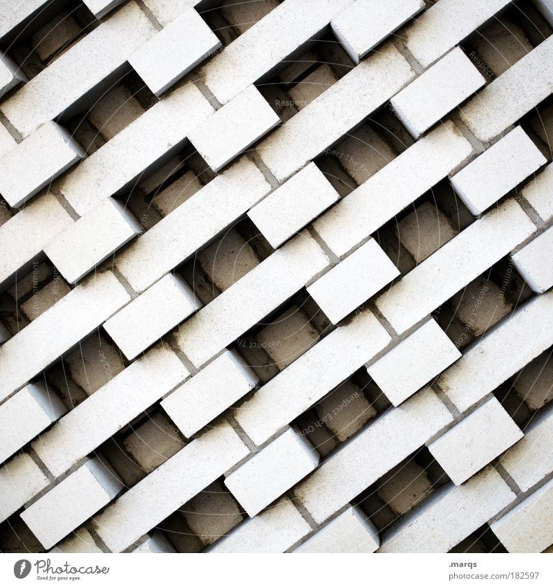 Wall weiß Stadt Wand grau Mauer Design Beton Fassade Baustelle einzigartig Bauwerk bauen Symmetrie eckig