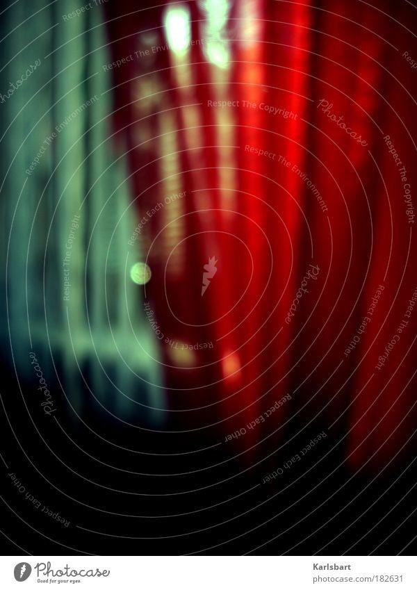 o Lifestyle Design harmonisch Wohlgefühl Erholung ruhig Häusliches Leben Wohnung Raum Schlafzimmer Fenster Dekoration & Verzierung Linie Streifen rot ästhetisch