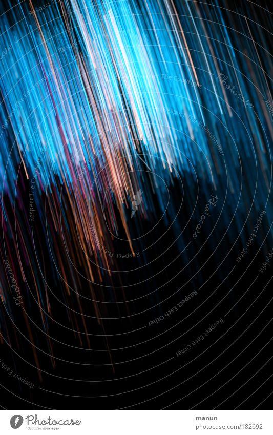 Lichtdusche blau Farbe schwarz Graffiti Stil Feste & Feiern außergewöhnlich Linie Stimmung Design Geburtstag modern Jubiläum Streifen Nacht Show