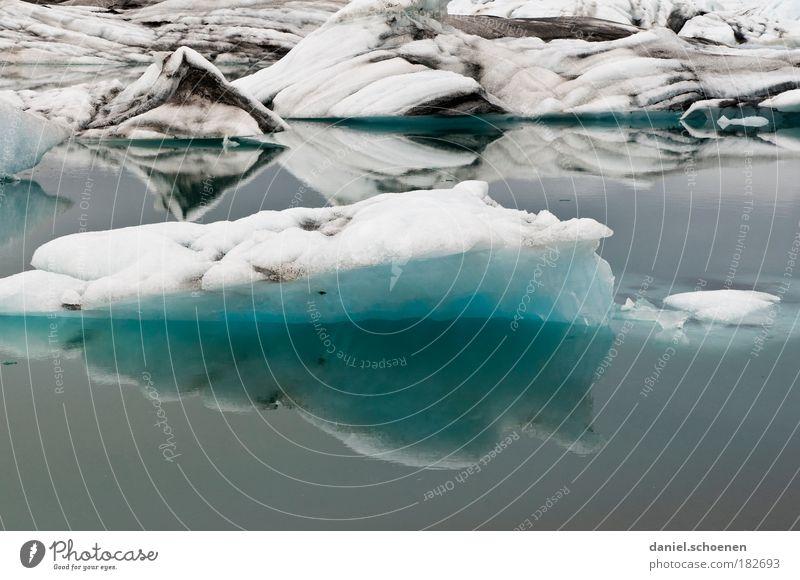 Klimaerwärmung Textfreiraum unten Umwelt Natur Wasser Klimawandel Eis Frost Gletscher Meer kalt blau weiß einzigartig Ferien & Urlaub & Reisen