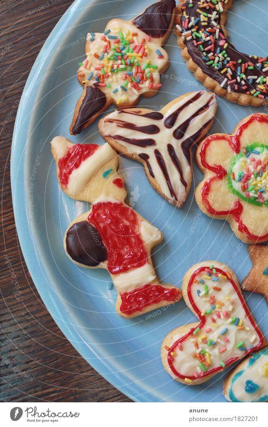 *Weihnachtsplätzchen* Detail II Lebensmittel Teigwaren Backwaren Süßwaren Schokolade Ernährung Kaffeetrinken Vegetarische Ernährung Slowfood Fingerfood Teller