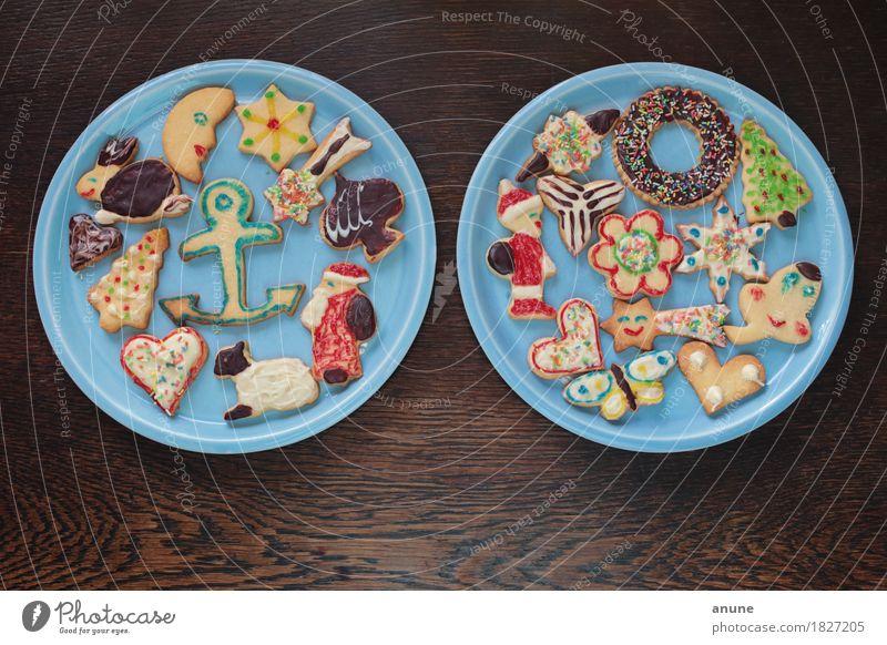 *Weihnachtsplätzchen* II Lebensmittel Teigwaren Backwaren Süßwaren Schokolade Ernährung Kaffeetrinken Vegetarische Ernährung Slowfood Fingerfood Teller