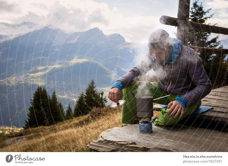 Weißwurstfrühstück mit Aussicht III Wohlgefühl Zufriedenheit Erholung ruhig Ausflug Abenteuer Ferne Freiheit Camping Sommerurlaub Berge u. Gebirge wandern
