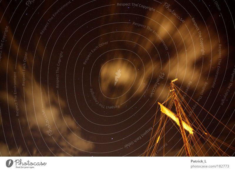 sailors night schön Himmel Freude Ferien & Urlaub & Reisen Wolken dunkel Herbst Bewegung träumen Luft Kraft Stern Nachthimmel Vertrauen Sehnsucht Spannung