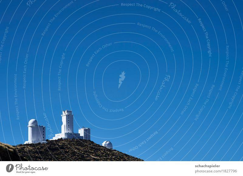 Teneriffa Observatorium Himmel Natur blau weiß Landschaft Berge u. Gebirge Gebäude braun Insel Weltall Bauwerk Sehenswürdigkeit Wolkenloser Himmel