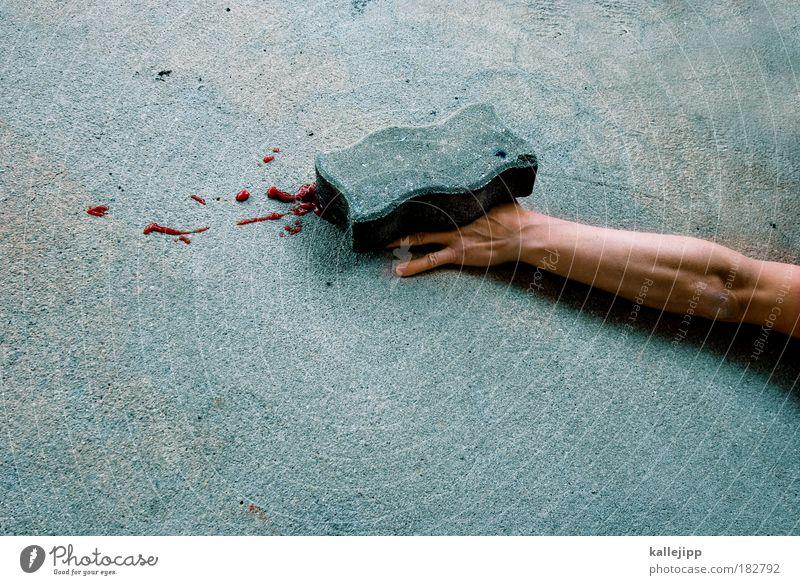 stones Mensch Mann Hand Kapitalwirtschaft Erwachsene Baustelle Stein Arbeit & Erwerbstätigkeit Wohnung Beruf Freizeit & Hobby maskulin Beton Finger