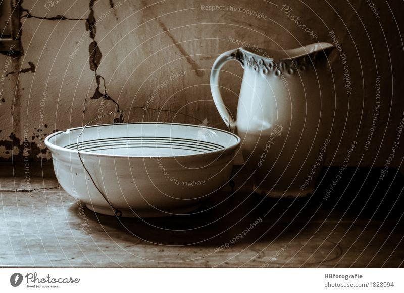 Porzellan Geschirr Schalen & Schüsseln rund Sauberkeit Stimmung Romantik Reinlichkeit Waschen Waschbecken Waschtisch ländlich Landleben Waschschüssel Farbfoto