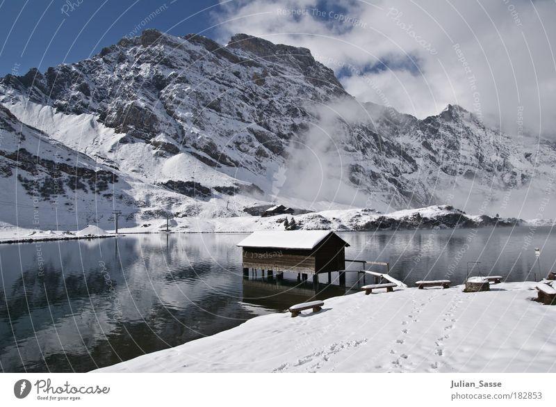 Winterland Natur Wasser Winter Schnee See Landschaft Schweiz Umwelt Macht Haus Hütte Schneelandschaft Kanton Obwalden Engelberg