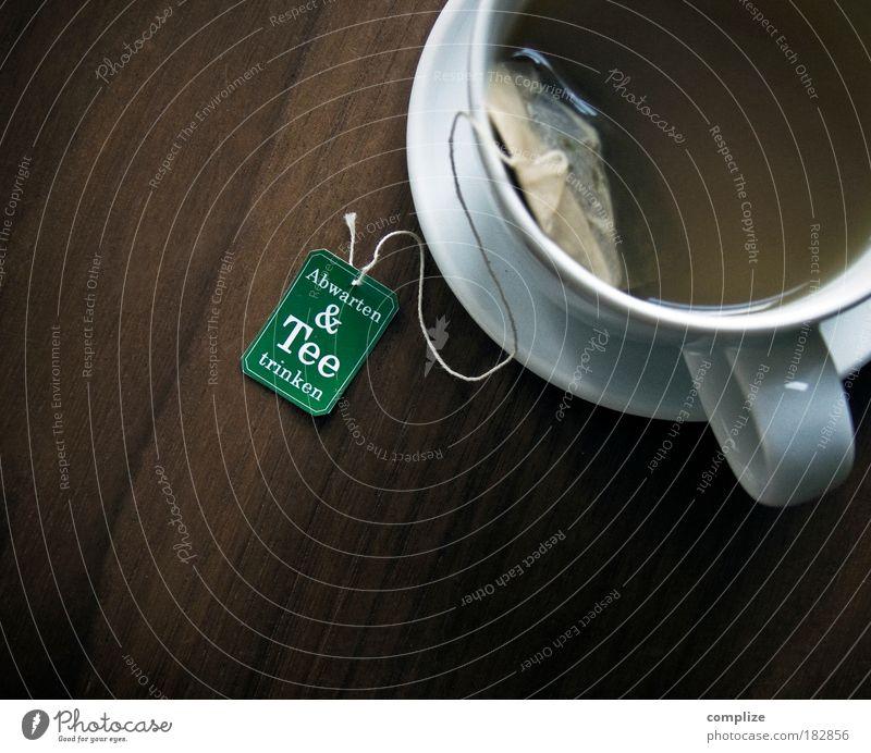 Abwarten und Tee trinken ruhig Gesundheit Zeit Kraft Lebensmittel warten Erfolg Design Gesunde Ernährung Lifestyle Getränk Suche trinken heiß Gelassenheit Tee