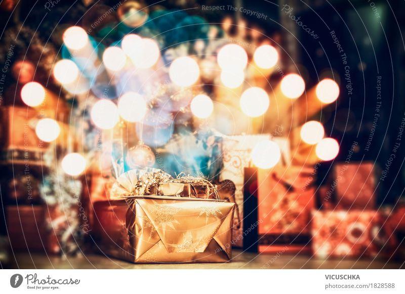 Geschenke zu Weihnachten Lifestyle kaufen Stil Design Freude Winter Häusliches Leben Wohnung Innenarchitektur Dekoration & Verzierung Party Veranstaltung