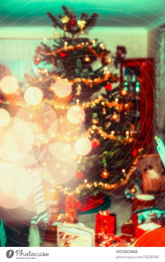 Weihnachten mit Weihnachtsbaum und Geschenke Weihnachten & Advent Haus Freude Winter Innenarchitektur Lifestyle Stil Feste & Feiern Design Wohnung Raum