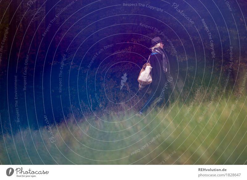 Jule | unterwegs Mensch Natur Jugendliche grün Junge Frau Landschaft Einsamkeit Wald 18-30 Jahre Erwachsene Umwelt Wiese Herbst Gras außergewöhnlich