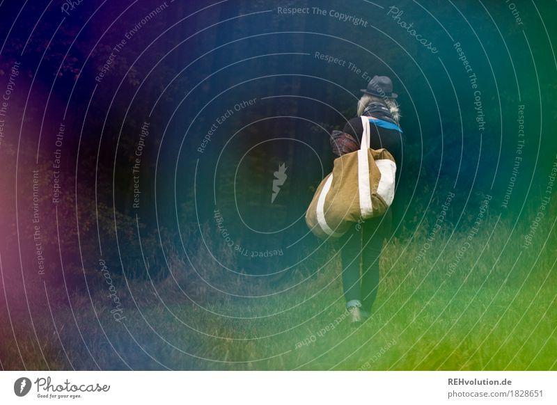Jule | unterwegs Mensch Jugendliche Junge Frau Baum Einsamkeit Wald 18-30 Jahre Reisefotografie Erwachsene Gefühle Wiese Herbst Gras feminin außergewöhnlich
