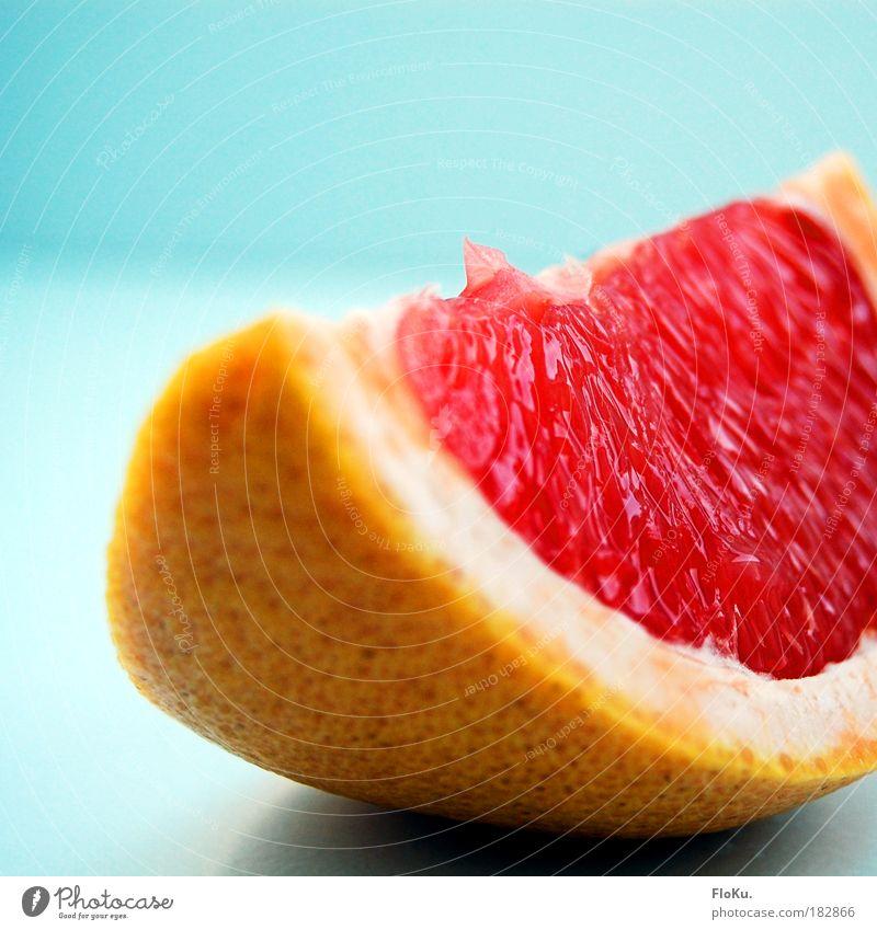 Vitaminspritze blau rot Ernährung gelb Farbe Leben Gesundheit glänzend Lebensmittel Frucht süß Diät Scheibe Bioprodukte Erfrischung