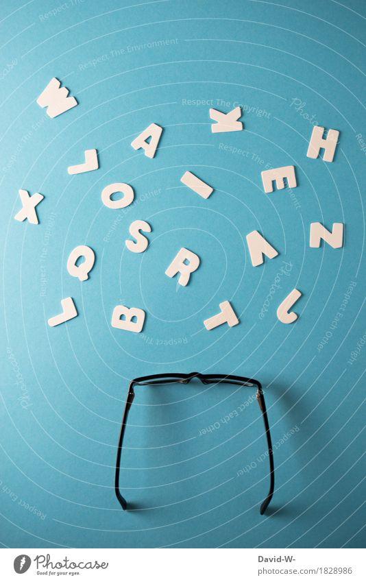 Analphabet Kind ruhig Leben Gesundheit Kunst Business Schule Gesundheitswesen Erfolg Telekommunikation lernen Brille Buchstaben lesen schreiben Bildung
