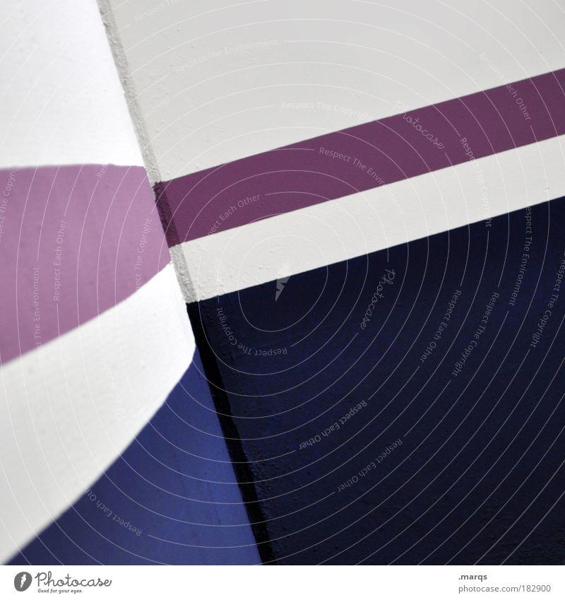 Aufschwung weiß blau abstrakt Linie Architektur Design elegant Erfolg Beton Ecke rund einfach violett Sauberkeit Streifen Grafik u. Illustration