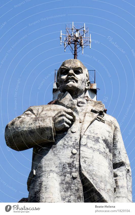 Antikapitalismus | gekrönter Lenin Sehenswürdigkeit Wahrzeichen Zeichen beobachten warten außergewöhnlich bedrohlich Bekanntheit dreckig gigantisch rebellisch