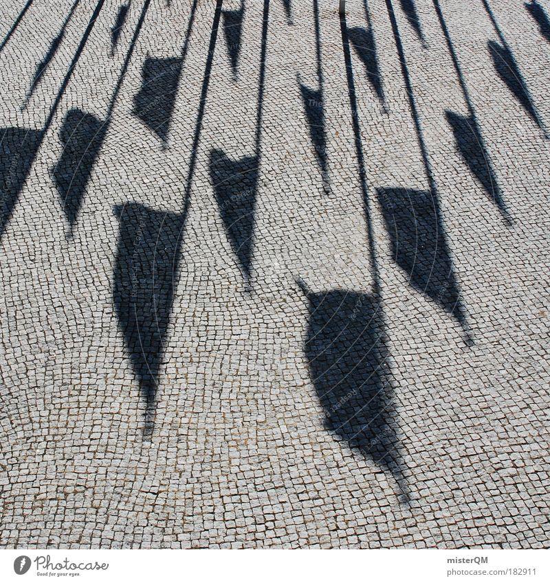 Flagge zeigen. Politik & Staat Business Wind Perspektive Europa Platz Reflexion & Spiegelung Fahne Muster Sitzung Hotel Zeichen Dienstleistungsgewerbe