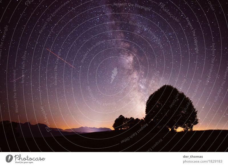 Sternenhimmel Irschenberg Himmel Natur Sommer Baum Landschaft Berge u. Gebirge Herbst Hügel Wolkenloser Himmel Bayern Starruhm Nachthimmel gigantisch Astronomie